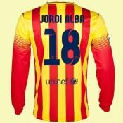 Acheter Maillot Football Manches Longues (Jordi Alba 18) Fc Barcelone 2014 2015 Extérieur Soldes Paris