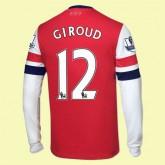 Acheter Maillots Manches Longues (Giroud 12) Arsenal 2014-2015 Domicile Prix France