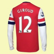 Acheter Maillots Manches Longues (Giroud 12) Arsenal 2014-2015 Domicile Prix France