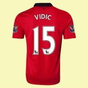 Acheter Un Maillot De Manchester United (Vidic 15) 15/16 Domicile Nike