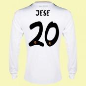 Acheter Un Maillot Foot Manches Longues (Jese 20) Real Madrid 2014 2015 Domicile Adidas Avec Flocage Boutique En Ligne