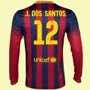 Acheter Un Maillot Football Manches Longues (Jonathan Dos Santo 12) Fc Barcelone 2015/16 Domicile Nike Retro Soldes Nice