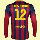 Acheter Un Maillot Football Manches Longues (Jonathan Dos Santo 12) Fc Barcelone 2015/16 Domicile Nike Retro Soldes Nice