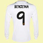 Acheter Un Maillot Manches Longues Real Madrid (Benzema 9) 2014-2015 Domicile Adidas Boutique Paris