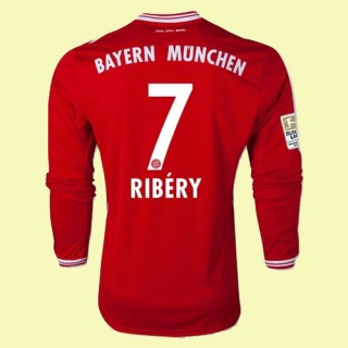 Acheter Un Maillots Manches Longues Bayern Munich (Ribery 7) 2015/16 Domicile Adidas Soldes Nice