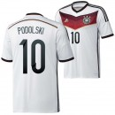 Allemagne Maillot De Football Domicile Coupe Du Monde 2014 Adidas(10 Podolski) En Solde