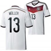 Allemagne Maillot De Football Domicile Coupe Du Monde 2014 Adidas(13 Mulle) Pas Cher