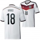 Allemagne Maillot De Football Domicile Coupe Du Monde 2014 Adidas(18 Kroos) Hot Sale