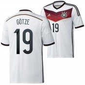 Allemagne Maillot De Football Domicile Coupe Du Monde 2014 Adidas(19 Gotze)