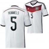 Allemagne Maillot De Football Domicile Coupe Du Monde 2014 Adidas(5 Hummels) Europe