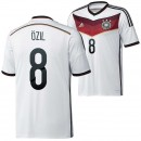 Allemagne Maillot De Football Domicile Coupe Du Monde 2014 Adidas(8 Ozil) France Magasin