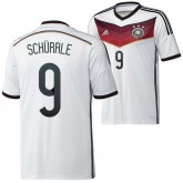 Allemagne Maillot De Football Domicile Coupe Du Monde 2014 Adidas(9 Schurrle) Boutique En Ligne