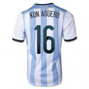 Argentine Maillot De Football Domicile Coupe Du Monde 2014 Adidas(16 Kun Aguero)