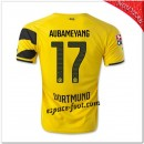 Aubameyang 17 Maillot Borussia Dortmund Domicile 2014-15 Soldes Cannes