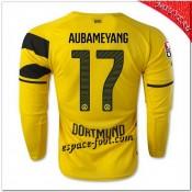 Aubameyang 17 Maillots Foot Borussia Dortmund Domicile 2014 2015 Manche Longue En Ligne