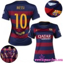 Barcelone Maillot Messi Femme 2015-2016 Game Domicile Maillots Foot Messi 2015-2016 Soldes Marseille
