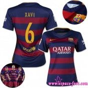Barcelone Maillot Xavi Femme 2015/2016 Game Domicile Maillot De Foot Xavi 2015/2016 Pas Cher Provence