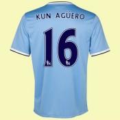 Boutique De Maillot Football Manchester City (Kun Aguero 16) 15/16 Domicile Nike Pas Cher France