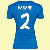 Boutique Maillot Foot Femmes (Varane 2) Real Madrid 2014 2015 Extérieur Adidas Avec Flocage