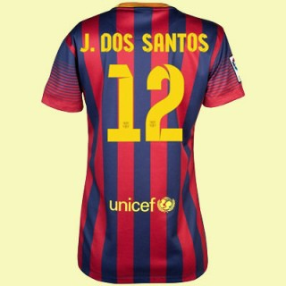 Boutique Maillot Football Femme Fc Barcelone (Jonathan Dos Santo 12) 15/16 Domicile Nike