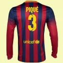 Boutique Maillot Manches Longues (Gerard Piqué 3) Fc Barcelone 2014 2015 Domicile Soldes Marseille
