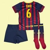 Boutique Maillots Juniors (Xavi Hernandez 6) Barcelone 2014 2015 Domicile Nike Floqué Authentique