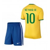 Bresil Maillot De Football Domicile Coupe Du Monde 2014 Nike+Shorts(10 Neymar Jr)