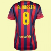 Commander Maillot Du Foot Femme Barcelone (Andres Iniesta 8) 15/16 Domicile Nike Pas Chere
