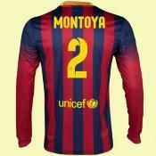 Creer Maillot Du Foot Manches Longues (Martin Montoya 2) Barcelone 2014-2015 Domicile Nike Officiel Soldes Avignon