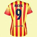 Creer Maillot Femme (Alexis Sanchez 9) Fc Barcelone 2014 2015 Extérieur