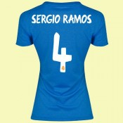 Creer Maillot Femmes Real Madrid (Sergio Ramos 4) 15/16 Extérieur Adidas