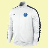 Creer Veste De Football Paris-Sg 2014-2015 Blanc En Ligne #3186 Soldes Paris