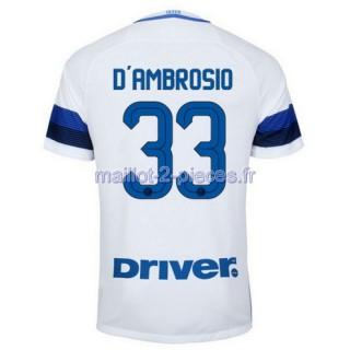 D'Ambrosio Inter Milan Maillot Exterieur 2016/2017