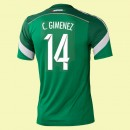 Dessin Maillot De Foot (Christian Giménez 14) Mexique 2014 World Cup Domicile Adidas Vintage