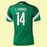 Dessin Maillot De Foot (Christian Giménez 14) Mexique 2014 World Cup Domicile Adidas Vintage