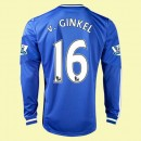 Dessin Maillot Football Manches Longues Chelsea (Van Ginkel 16) 2015/16 Domicile Adidas Europe