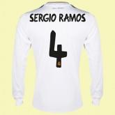 Destockage Maillot De Manches Longues (Sergio Ramos 4) Real Madrid Fc 2014-2015 Domicile Adidas Soldes Fashion