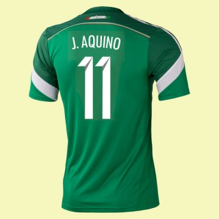 Destockage Maillot Du Foot Mexique (Javier Aquino 11) 2014 World Cup Domicile Adidas