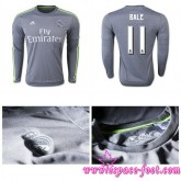 Destockage Maillots Real Madrid Bale 2015/2016 Manche Longue Extérieur Boutique En Ligne