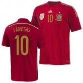 Espagne Maillot De Football Domicile Coupe Du Monde 2014 Adidas(10 Fabregas) Avignon