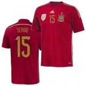 Espagne Maillot De Football Domicile Coupe Du Monde 2014 Adidas(15 Sergio) Alsace