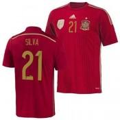 Espagne Maillot De Football Domicile Coupe Du Monde 2014 Adidas(21 Silva) Ventes Privees