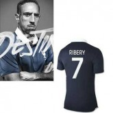 France Maillot De Football Domicile Coupe Du Monde 2014 Nike(7 Franck Ribery)