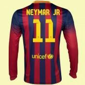 Jeu De Maillots Manches Longues (Neymar Jr 11) Barcelone 2014 2015 Domicile Fiable Magasin Paris