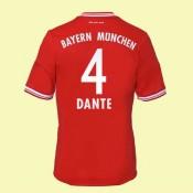 Le Nouveau Maillot De Football (Dante 4) Bayern Munich 2014 2015 Domicile En Ligne