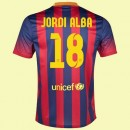 Le Nouveau Maillot Football (Jordi Alba 18) Fc Barcelone 2014 2015 Domicile Nike Retro Fashion Show