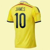 Les Nouveaux Maillot De Foot (James 10) Colombie 2014 World Cup Domicile Paris