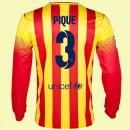 Les Nouveaux Maillot Du Foot Manches Longues Fc Barcelone (Gerard Piqué 3) 2014-2015 Extérieur Nike En Ligne