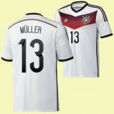 Magasin De Maillot Foot Allemagne (Muller 13) 2014 World Cup Domicile Adidas Catalogue