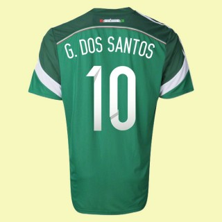 Magasin De Maillot Mexique (Giovani Dos Santos 10) 2014 World Cup Domicile Adidas